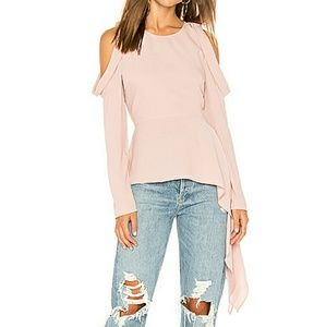 BCBG MAXAZRIA Blush Pink Cut Out Top Size Small